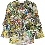 Peter Pilotto Printed Frill Blouse