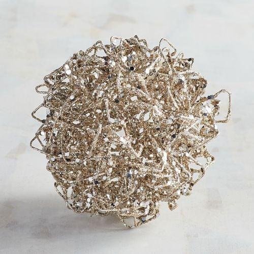 Silver Wire Decorative Sphere