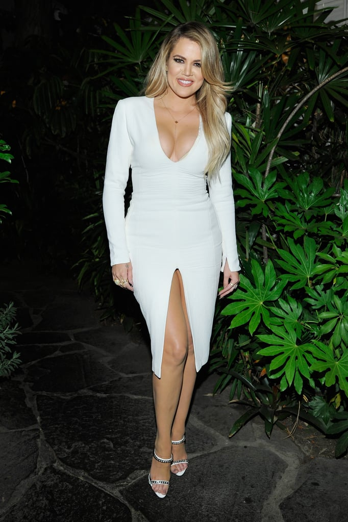 Khloe Kardashian With Blond Hair and Side Part in 2015