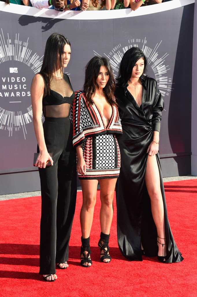 Kim walked the red carpet at the MTV VMAs with Kendall and Kylie Jenner in August 2014.