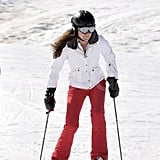 Kate Middleton put her legs to work on her skis on vacation in France.
