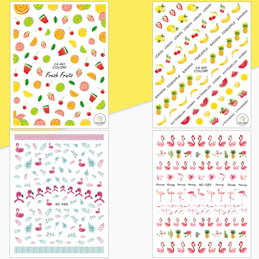 Whaline Mixed Nail Art Stickers 3D Self-Adhesive Stickers