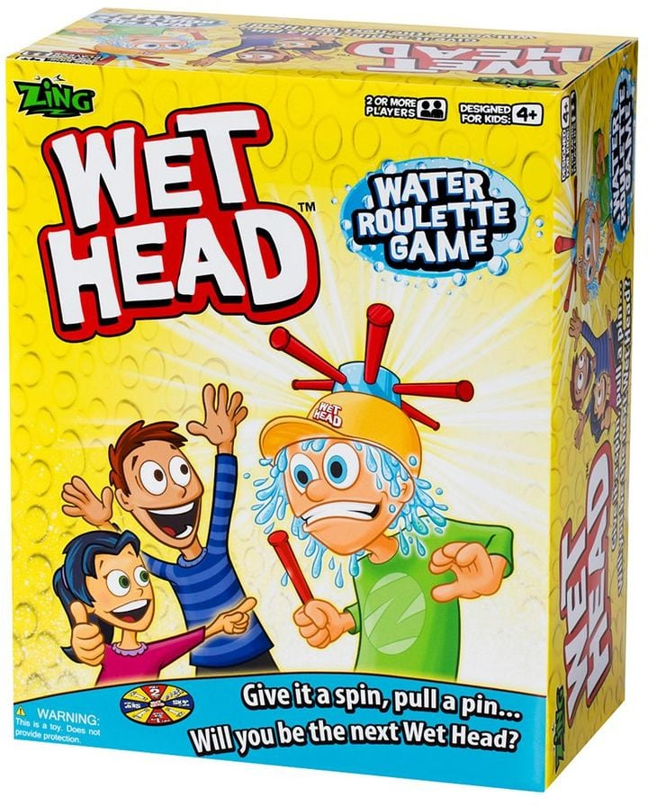 For 4-Year-Olds: Zing Wet Head Water Roulette Game