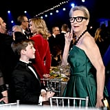 Iain Armitage and Meryl Streep at the 2020 SAG Awards