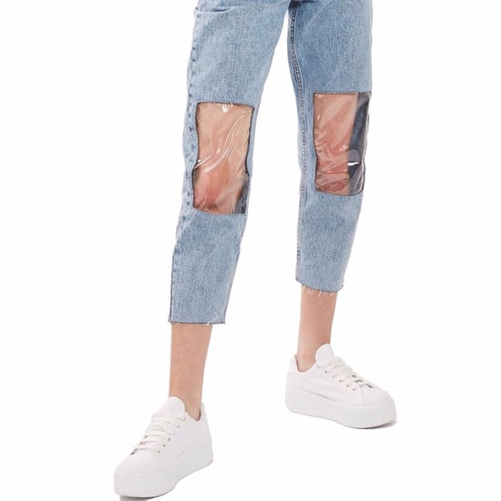 Topshop Clear-Knee Mom Jeans