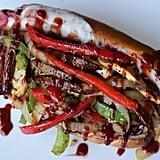 Chicken and Sausage Boysenberry BBQ Sandwich at Spurs