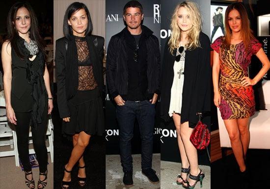 Photos Of Celebrity Guests From New York Fashion Week Including Josh Hartnett, Mary-Kate Olsen, Rachel Bilson