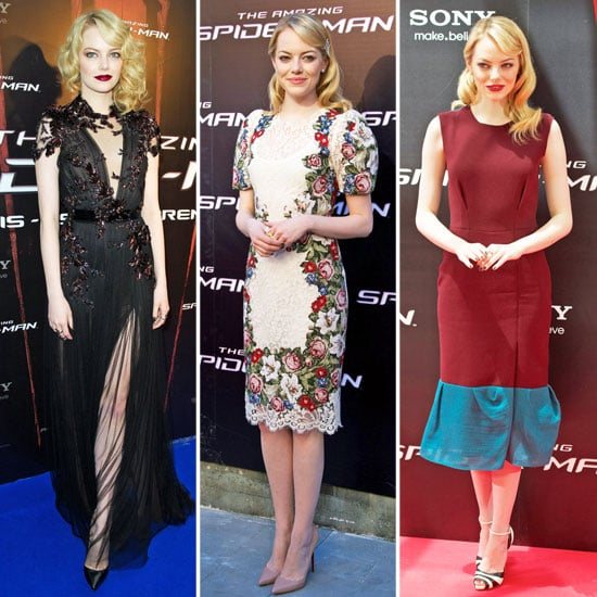 See Emma Stone's Spider-Man Press Tour Wardrobe: Every Red Carpet Look Is a Winner! See Her Latest Floral Roksanda Ilincic Look