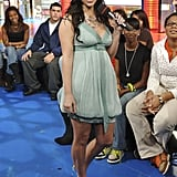 Kim Kardashian made an appearance on MTV's TRL at its NYC studio in November 2007.