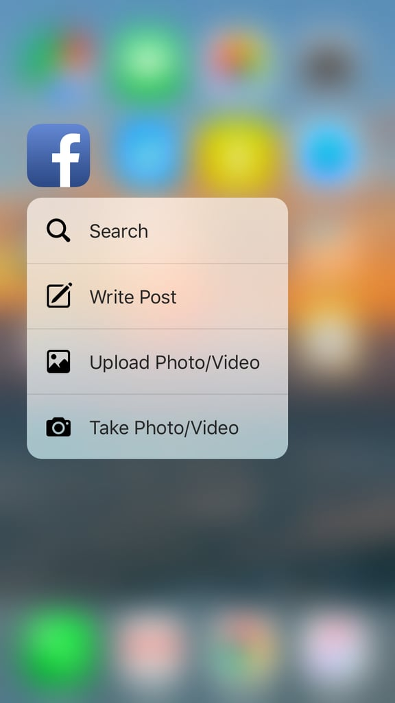Share something on Facebook in seconds.