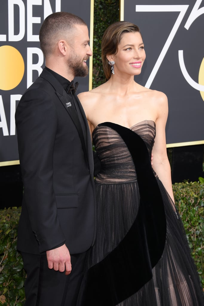 Jessica Biel and Justin Timberlake 2018 Golden Globe Awards