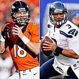 Source: Getty   Check out hot quarterbacks Peyton Manning and Russell Wilson side by side. See the most stylish football helmets ever. Relive Janet Jackson's infamous 2004 nip slip — in GIFs! That's not the only sexy thing that's happened at the big game over the years — remember Beyoncé's superhot performance? Seriously though, Peyton Manning is really funny. Hilarious actually. Bring your championship team spirit home with these subtle Super Bowl decor ideas. Find out more about that hot cowboy in the Budweiser Clydesdale commercials — and watch the latest one below!