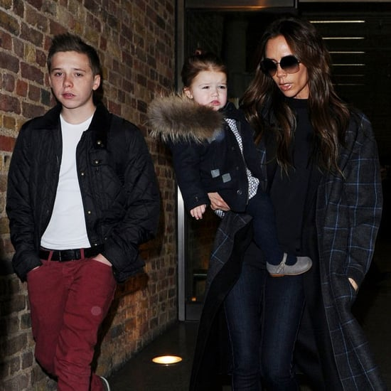 Victoria Beckham, David Beckham, and Kids Travel to London