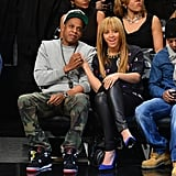 Jay-Z and Beyonce Knowles stepped out together in NYC.