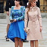 Pictures of Princess Beatrice and Princess Eugenie at Royal Wedding