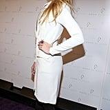 Blake Lively wore a white blazer dress.