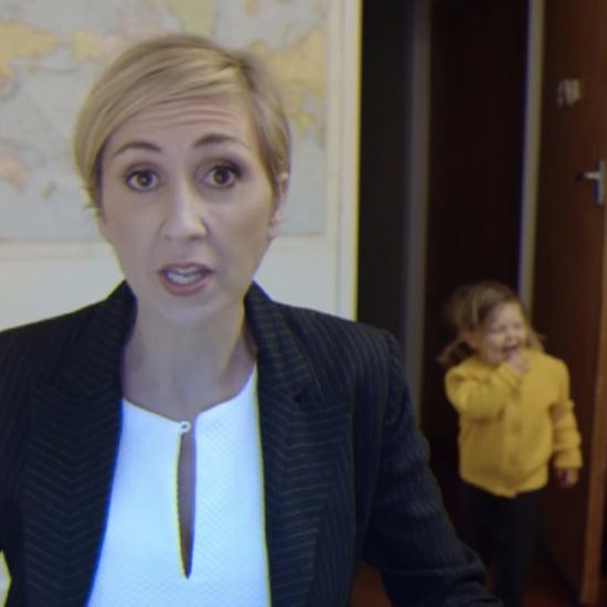 مُحاكاة طريفة لمقابلة قناة BBC أمّ عاملة