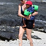Charlize Theron in a Bikini With Son Jackson | Photos
