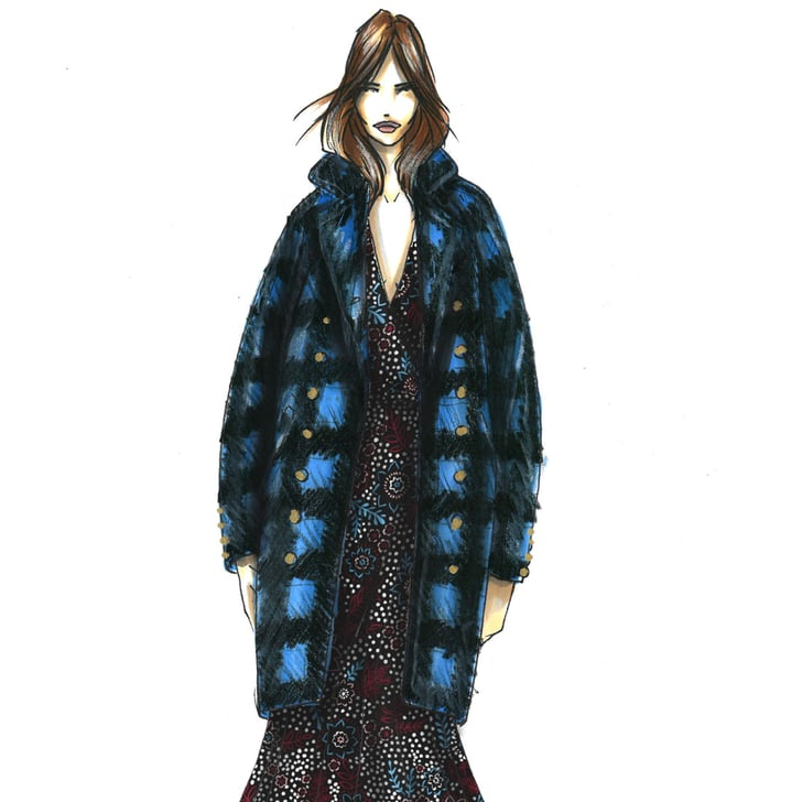 Designer Sketches From New York Fashion Week Fall 2016 Popsugar Fashion
