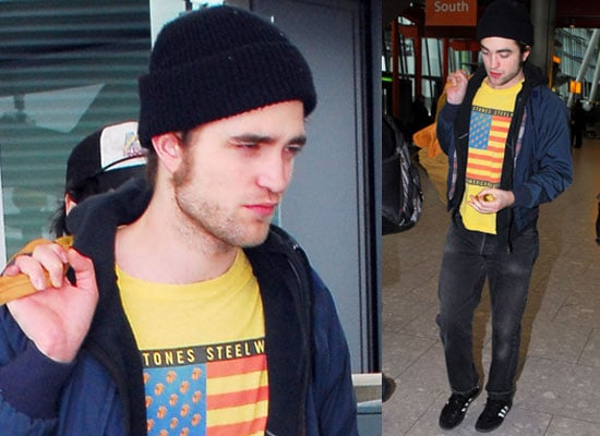 Photos of Robert Pattinson at Heathrow Airport After Flying From New York to News He Has Wax Figure Wax Work at Madame Tussauds