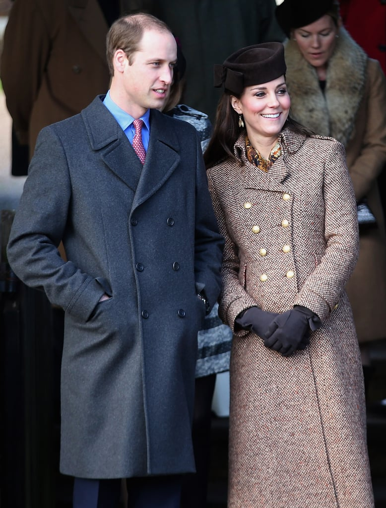 The British royal family attended the Christmas Day service at Sandringham parish church on Thursday. Keeping with the royal family tradition, the group is spending the holidays at Sandringham, the queen's official Winter retreat. When they stepped out for church, pregnant Kate Middleton covered her baby bump in a long brown coat, and she greeted a large group of fans and photographers with Prince William and Prince Harry. Along with the entire British royal family, the Middleton family also attended the service. Although Will and Kate joined the family for Christmas Day, they're spending the holidays at Anmer Hall, which sits just two miles from Sandringham. The couple is celebrating the holidays with Prince George, although he didn't attend the church service. Following church, the group headed back to the house for lunch before watching the queen's annual Christmas message on TV. Take a look at some of the best pictures from the royals' Christmas outing, and then learn more about the royal holiday traditions!