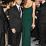 At the Brazil Foundation's annual gala, Francisco Costa joined Izabel Goulart who wore the designer's green Calvin Klein Collection gown.