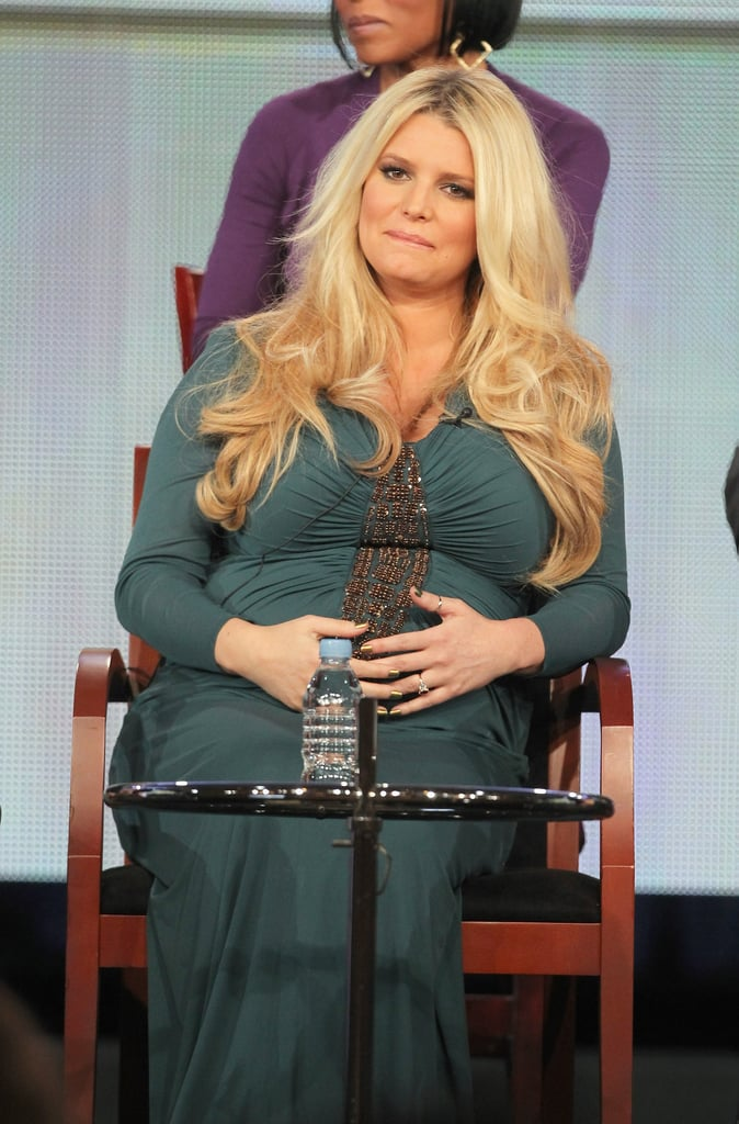 Pregnant Jessica Simpson promoting Fashion Star.