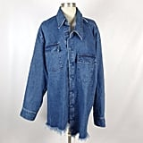 An Oversize Denim Button-Up