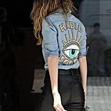 Gigi Hadid's Hadid Denim Shirt June 2016