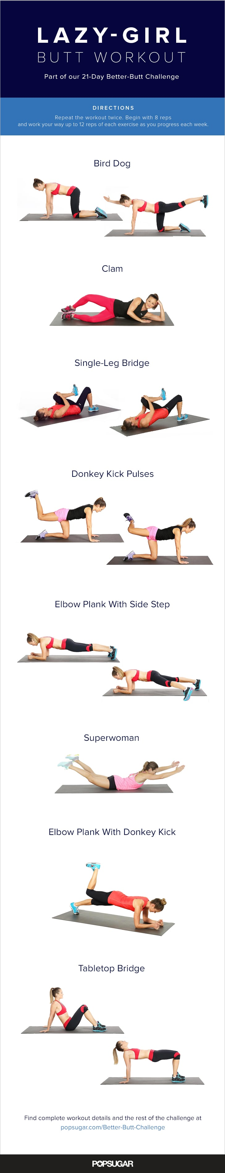 No-Equipment Butt Workout