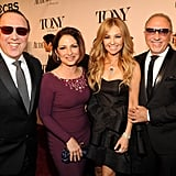 Tommy Mottola, Gloria Estefan, Thalia, and Emilio Estefan mingled on the carpet.