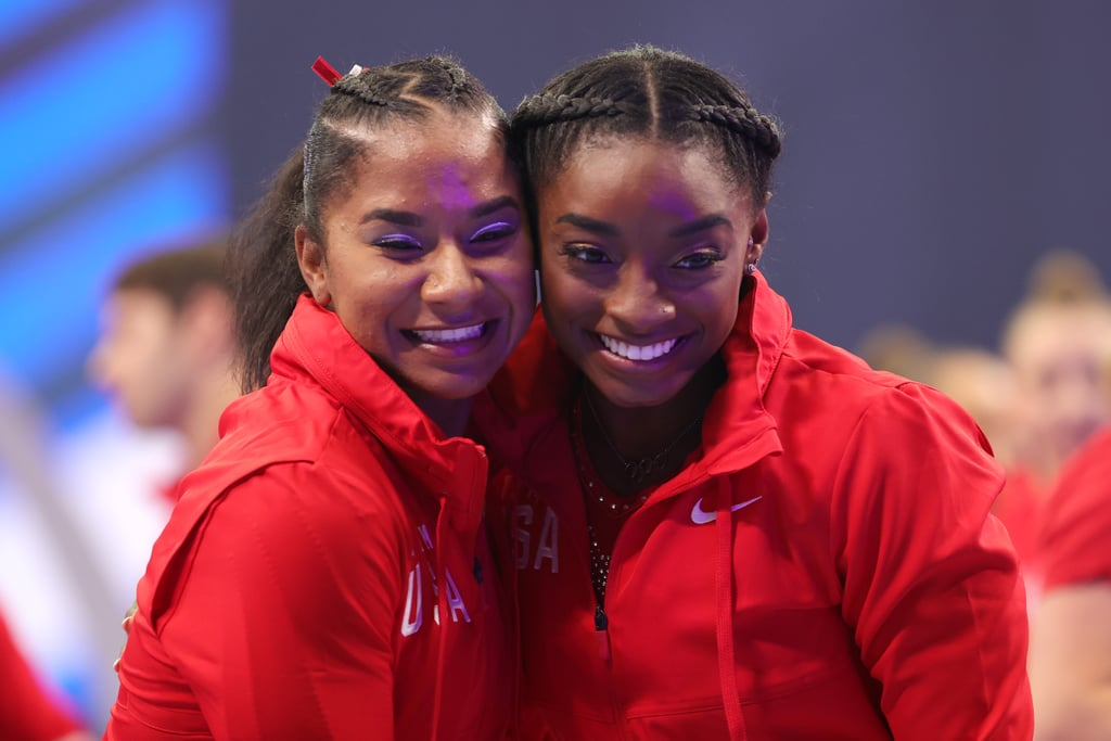 Simone Biles and Jordan Chiles Cute Tokyo Olympics Pictures