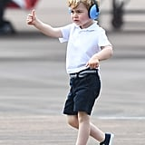 Prince George at The Royal International Air Tattoo at RAF Fairford in July 2016
