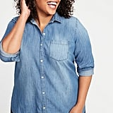 Old Navy Classic Chambray No-Peek Plus-Size Shirt