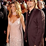 Jennifer Aniston and Brad Pitt at the 2002 Emmy Awards