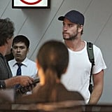 Liam Hemsworth left Manila.