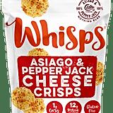 Cello Whisps Asiago & Pepper Jack Cheese Crisps