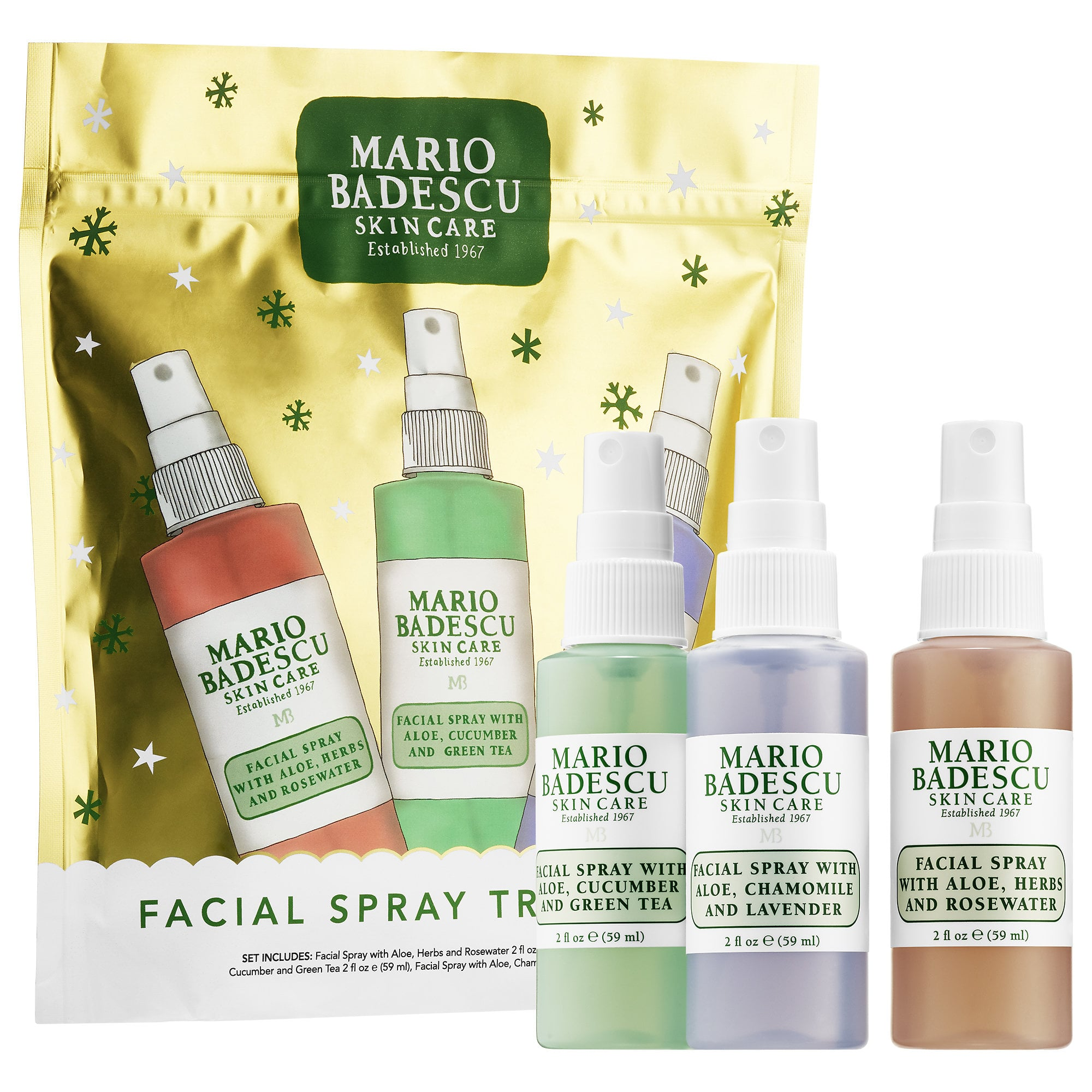 Mario Badescu Facial Spray Travel Trio These 30 Mini