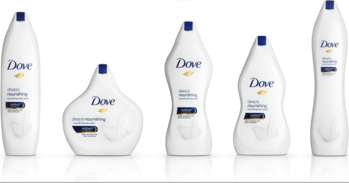 Dove's Viral New Campaign Features Body Washes Shaped Like Curvy Women