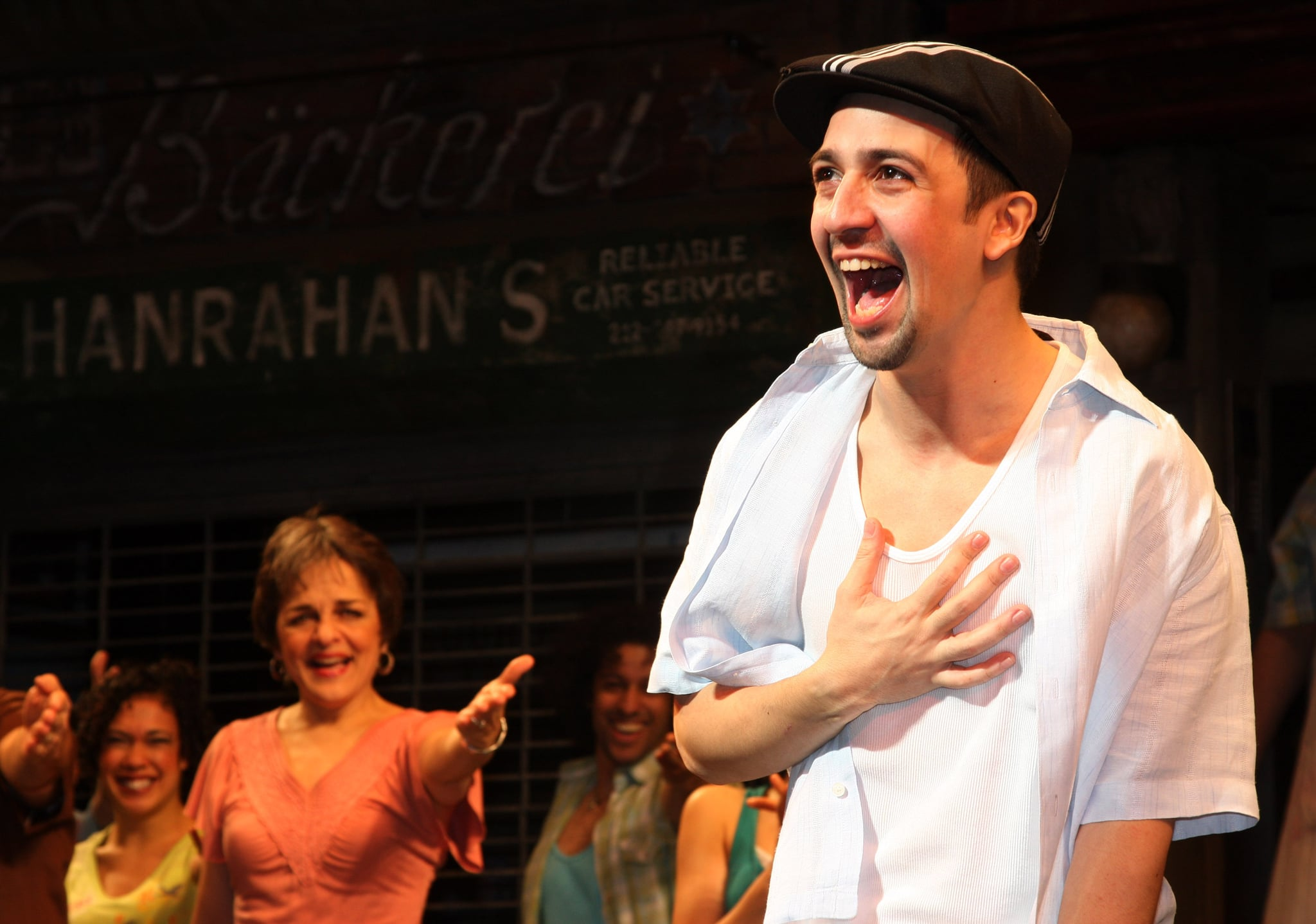 NEW YORK - FEBRUARY 15:  Lin-Manuel Miranda during his final curtain call in In The Heights