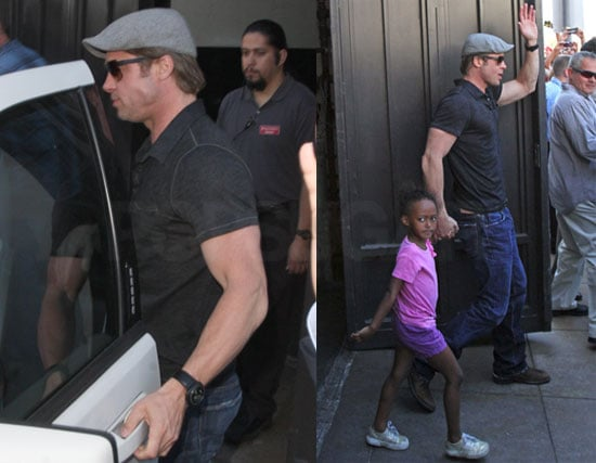 Pictures of Brad Pitt with Zahara in LA