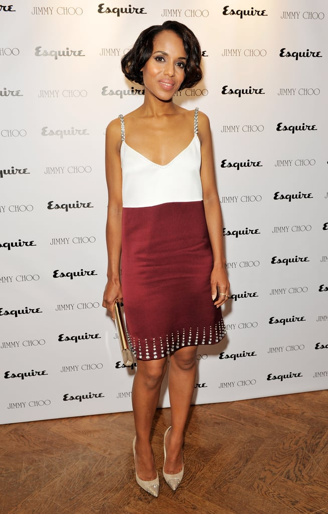 Kerry Washington wore Marc Jacobs at the Jimmy Choo and Esquire celebration for the launch of London Collections: Men in London.
