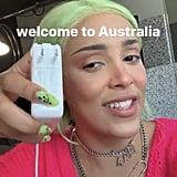 Doja Cat's Neon Green Hair and Nails