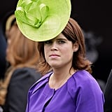 For an afternoon on the Ascot racecourse, the royal wore a lime-green fascinator.