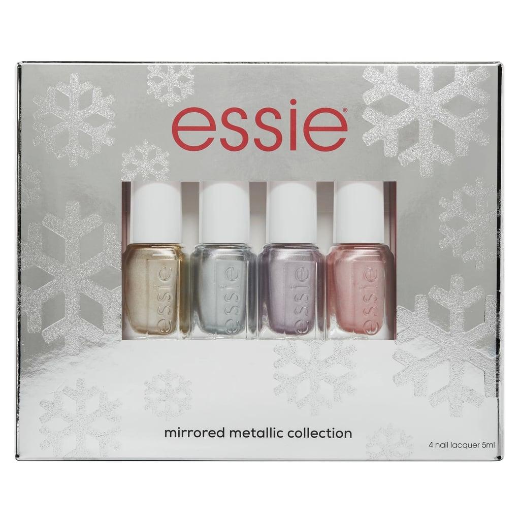 Essie Metallic Mirrors Holiday Mini Nail Polish Kit   Nail Gift ...