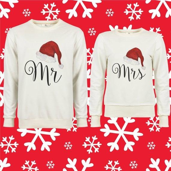 Mr And Mrs Matching Couples Sweatshirts Ugly Christmas