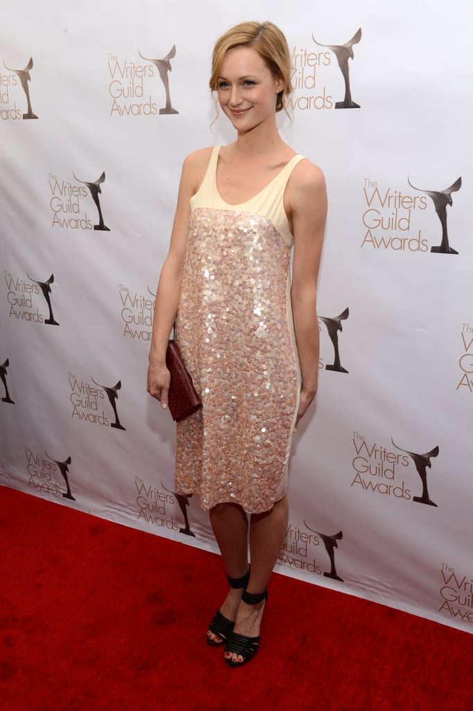 Kerry Bishé wore a sparkly number.