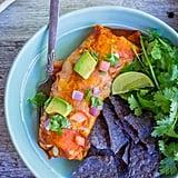 Entrée: Baked Enchilada-Style Veggie Burritos