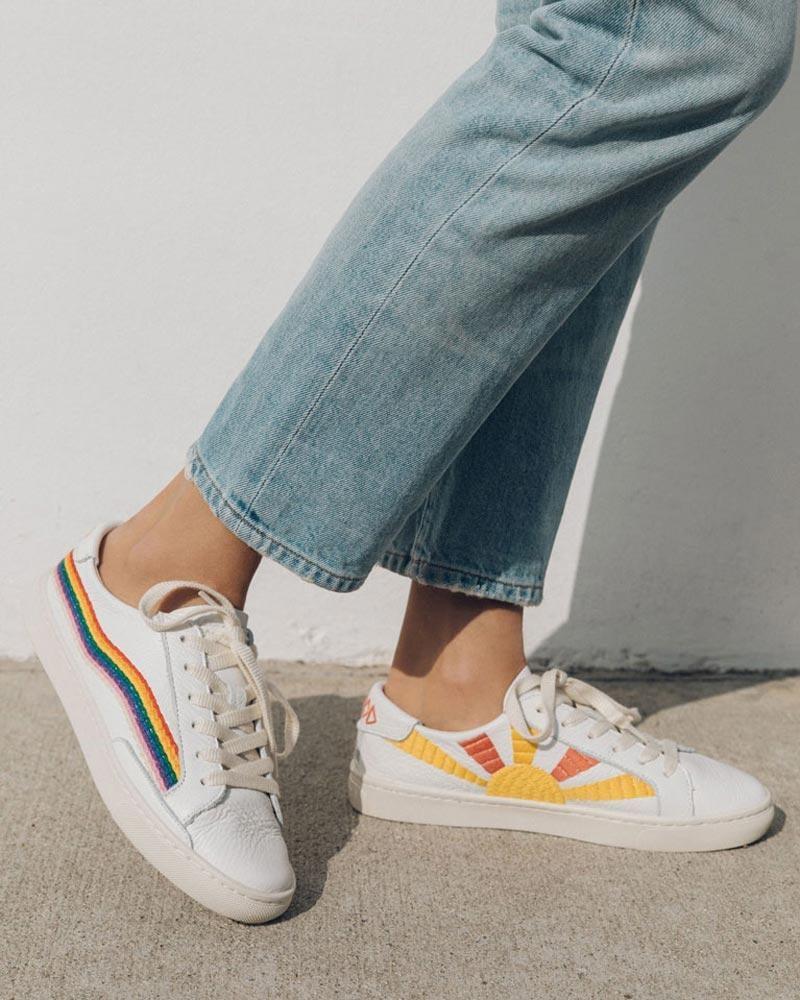 Rainbow Wave Sneakers