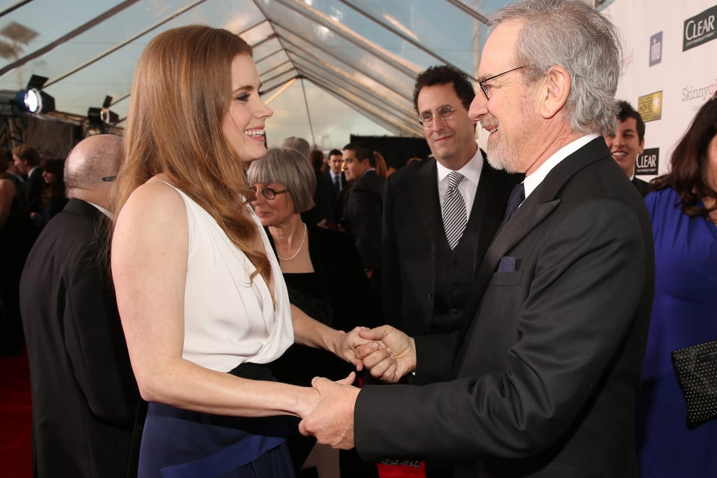 Amy Adams had a moment with Steven Spielberg on the red carpet.